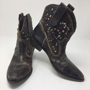 MIA Ankle Cowboy Boot  Metallic Rivet Detail 6